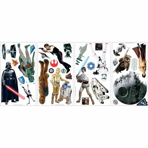 Roommates Star Wars Classic Peel and Stick Wall Decals 12A-R75-RMK1586SCS