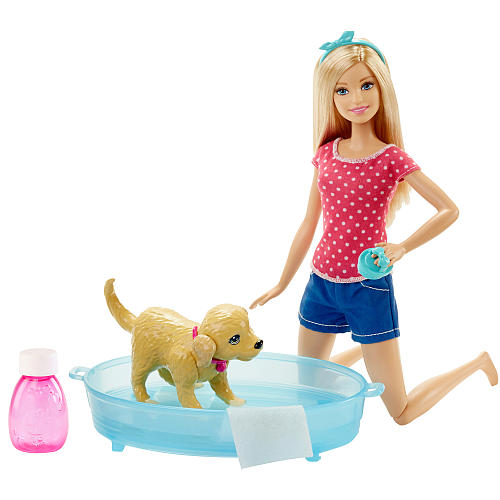 Mattel Barbie Splish Splash Pup and Doll