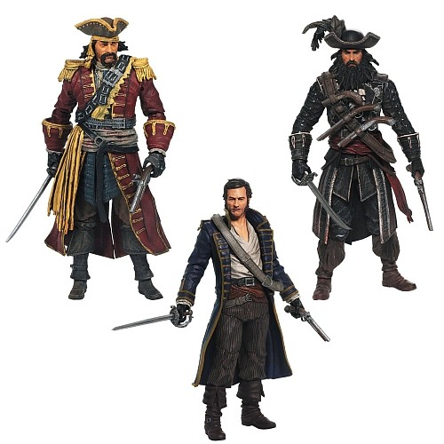 Assassin's Creed IV: Black Flag Action Figure 3 Pack 12K-Q80-81014/1
