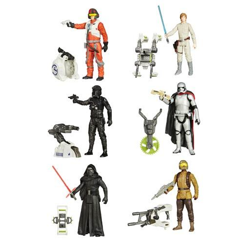 Star Wars: The Force Awakens 3.7-Inch Jungle and Space Action Figures Wave 1 Case 12K-R30-HSB3445A