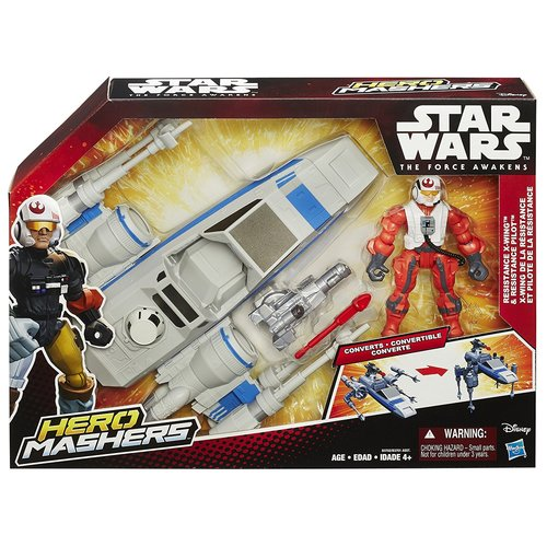 Star Wars Hero Mashers Episode VII Resistance X-Wing and Resistance Pilot - Light Gray/Orange 12R-R30-HSB3701A