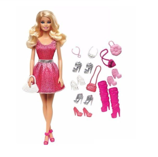 Barbie Doll and Shoe Accessory  - Assortment 12D-766-DMP09