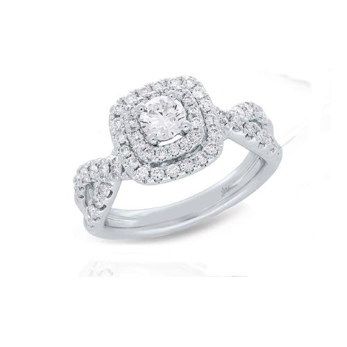 14K White Gold 1.10 ct Diamond Engagement