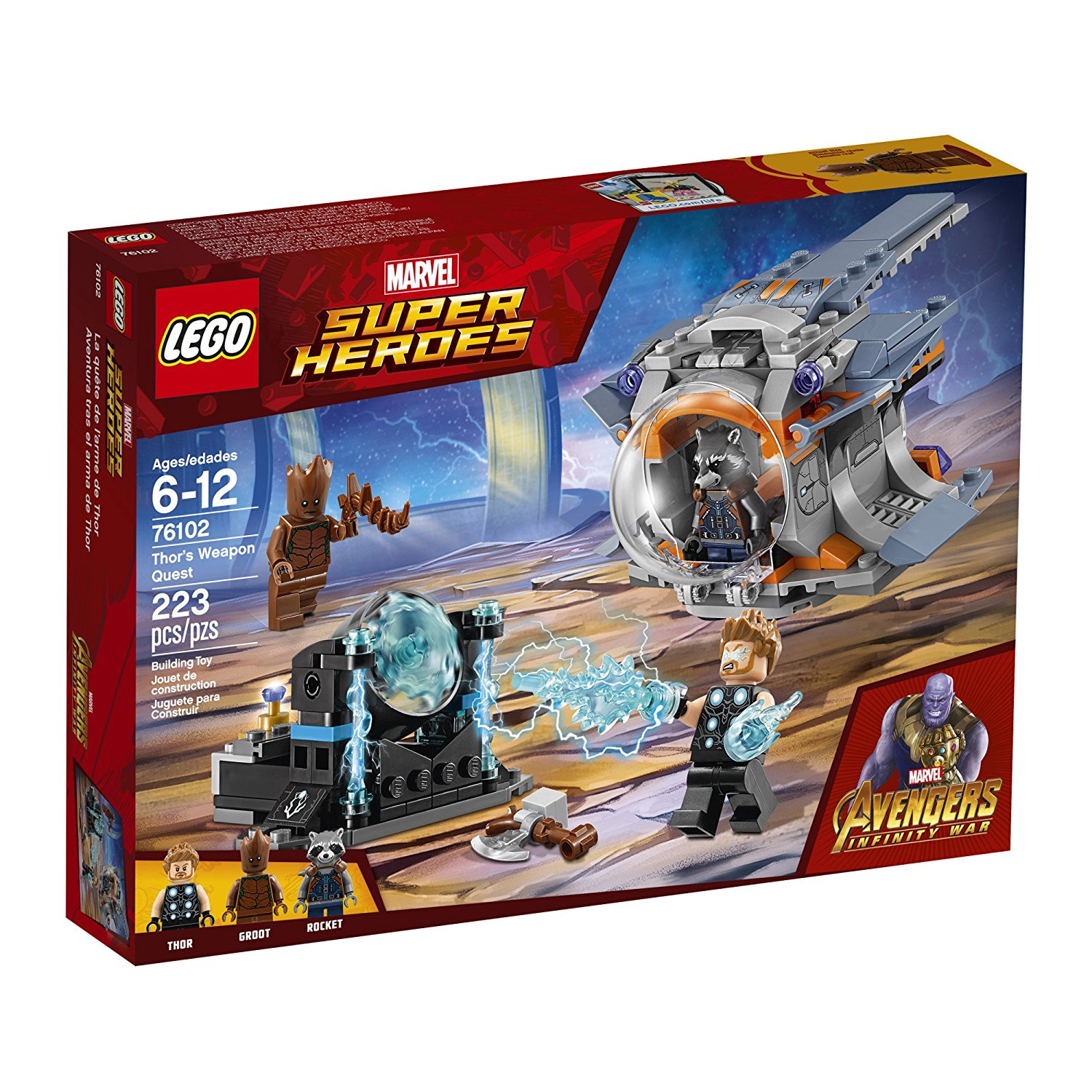 Lego Super Heroes Thor's Weapon Quest 12L-P67-76102