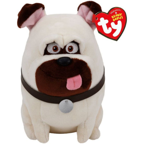 "Ty Beanie Babies 8"" The Secret Life of Pets - Mel the Pug 12P-DOE-41164"