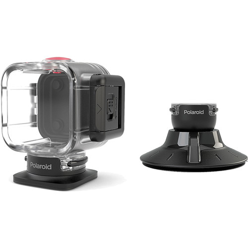 Polaroid Waterproof Case and Suction Mount 15A-R41-POLC3WSM