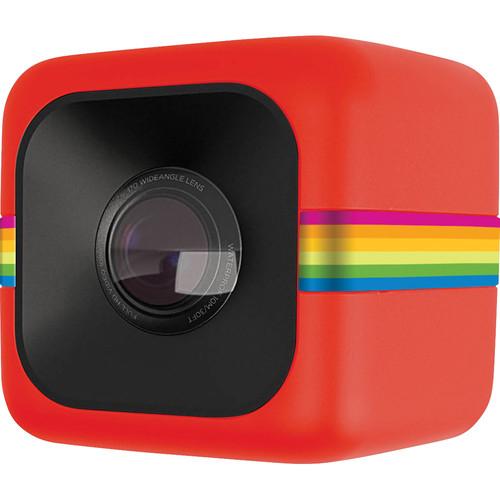 Polaroid POLC3R Cube HD Digital Video Action Camera - Red