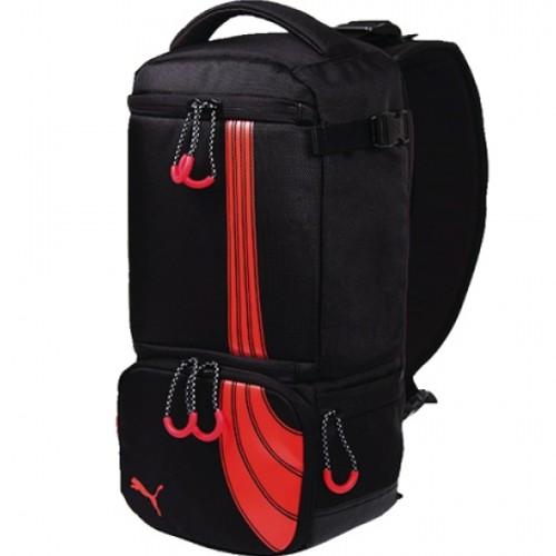 UPC 886510023346 product image for Puma Camera Sling Backpack Black Red    upcitemdb.com ...