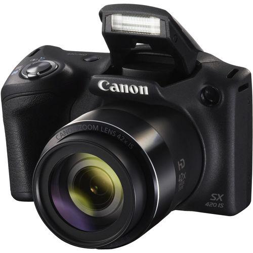 Canon SX420BLK PowerShot Digital Camera / 20 Megapixel / 42x Optical Zoom - Black