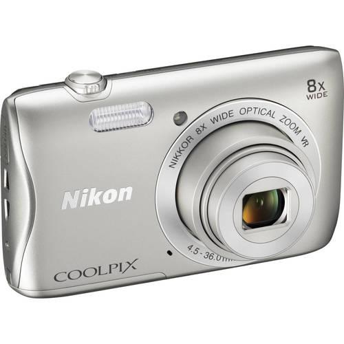 Nikon COOLPIXS3700 S3700 Digital Camera / 20.1 MP / 8x Optical Zoom - Silver