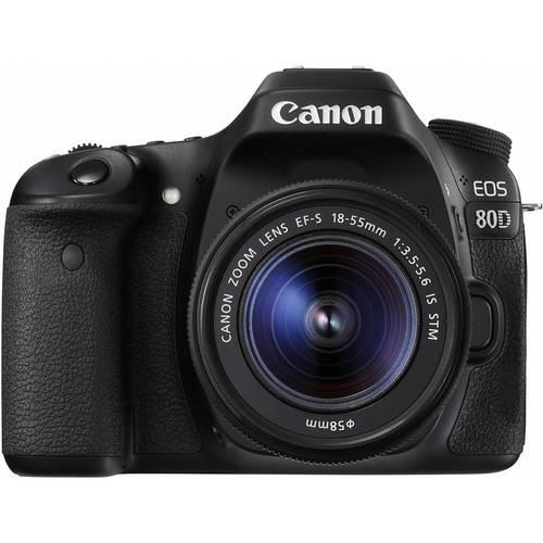 Canon EOS80/1855 DSLR Camera 24.2 Megapixel with EF-S 18-55mm Lens - Black
