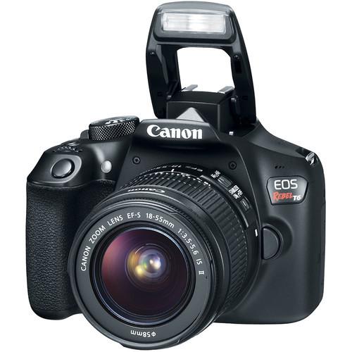 Canon EOS Rebel T6 DSLR Camera / 18MP / 18-55mm Lens - Black