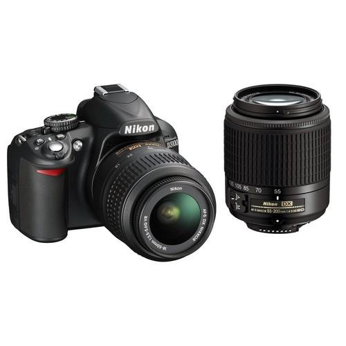 Nikon D31002LENSKT Digital SLR Camera / 14.2 Megapixel / 18-55mm VR lens - Black
