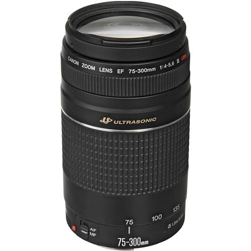 Canon EF75300III USM Telephoto Zoom Lens for Canon SLR Cameras