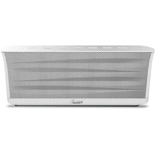 iLuv MobiOut Rechargeable Bluetooth Stereo Speaker - White 17A-E02-ISP233WHITE
