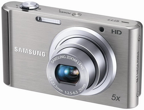 Samsung ECST77ZZFPSP Compact Digital Camera 16.1MP / 5x Optical Zoom / 2.7 LCD - Silver