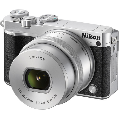 Nikon 1 J5 Mirrorless Digital Camera / 20.8MP / 10-30mm Lens - Silver