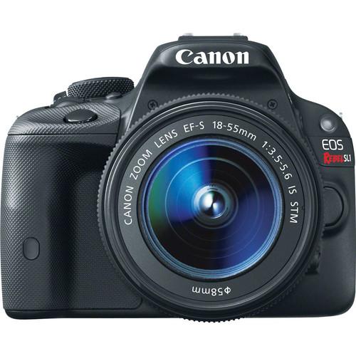 Canon EOS Rebel SL1 DSLR Camera with 18-55mm Lens - Black