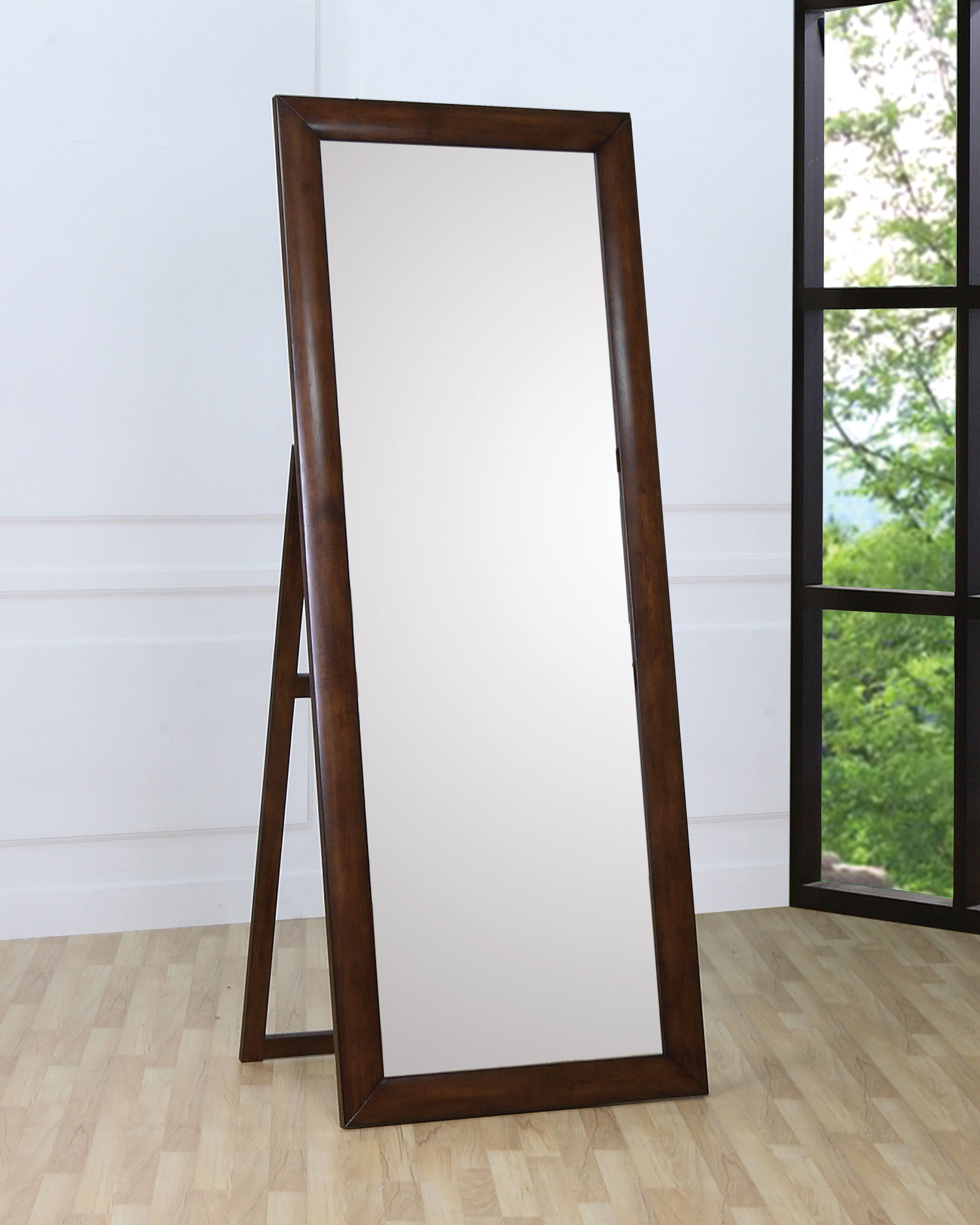 Cappuccino Finish Floor Mirror