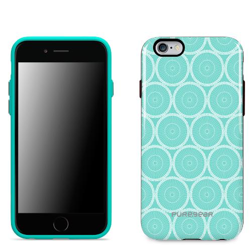 PureGear Motif iPhone 6/6S Case - Mint Circles