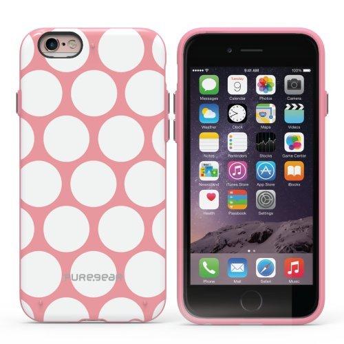 PureGear Motif Series iPhone 6/6S Case - Pink / White Dot