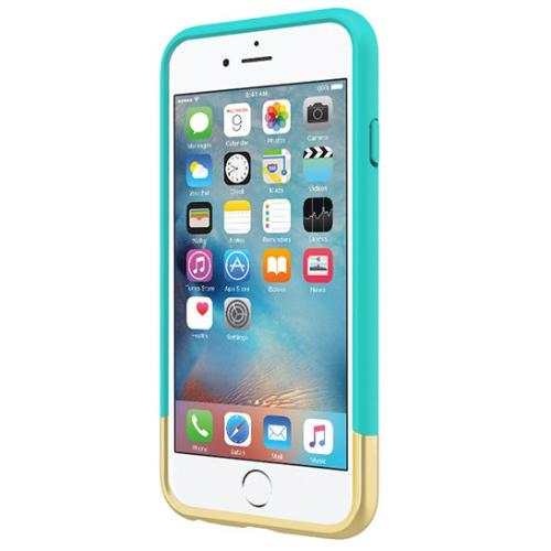 Incipio iPhone 6/6s Edge Chrome Case - Teal/Gold