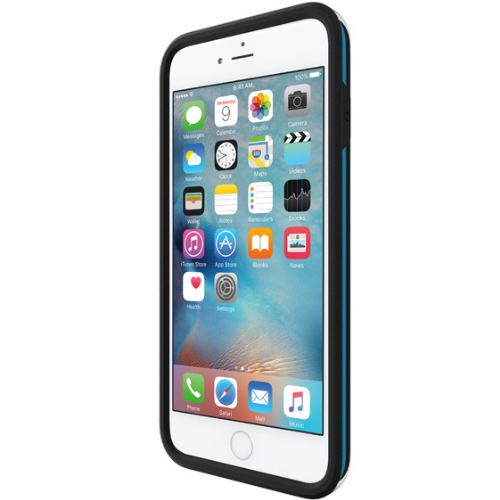 Incipio iPhone 6/6s Plus Performance Series Level 4 Ultra-Rugged Drop Protection Case - Black / Cyan