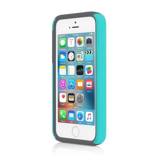 Incipio iPhone 5/5S/SE Dual PRO Hard Shell Case - Turquoise/Charcoal