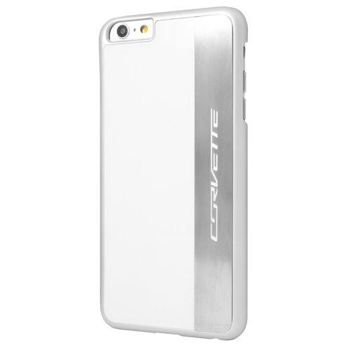 Corvette iPhone 6S Plus / 6 Plus Brushed Aluminium Hard Case - White