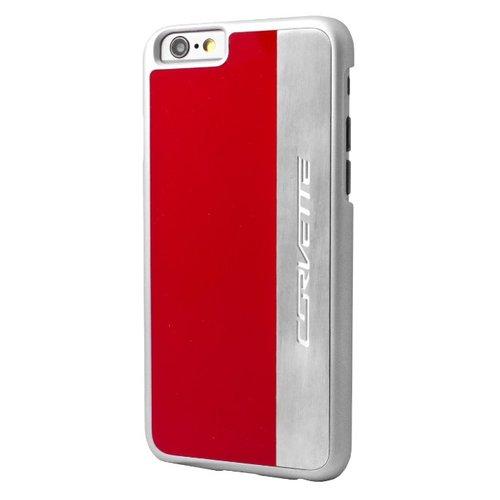 Corvette iPhone 6/6S Brushed Aluminium Hard Case - Red/Silver