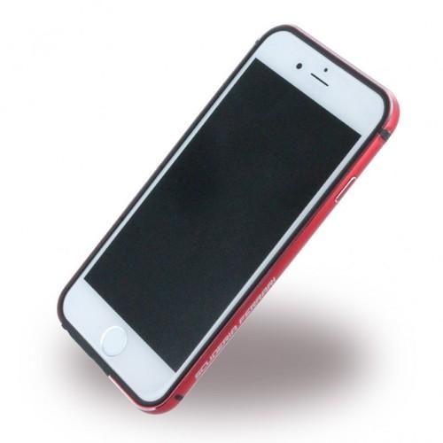 Ferrari Racing iPhone 6/6S Aluminum TPU Bumper Case - Red