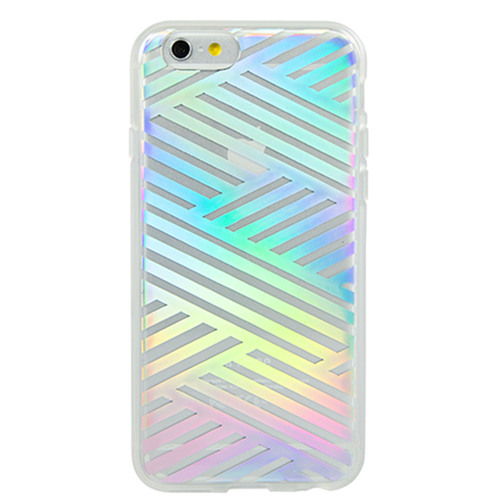 Sonix iPhone 6/6S Clear Coat Case - Criss Cross Rainbow