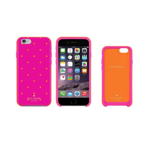 Kate Spade New York iPhone 6/6s Hybrid Hard Shell Case - Pink/Orange
