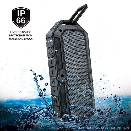 iLuv COLLISIONBK Rugged & Water-Resistant Bluetooth Speaker - Black