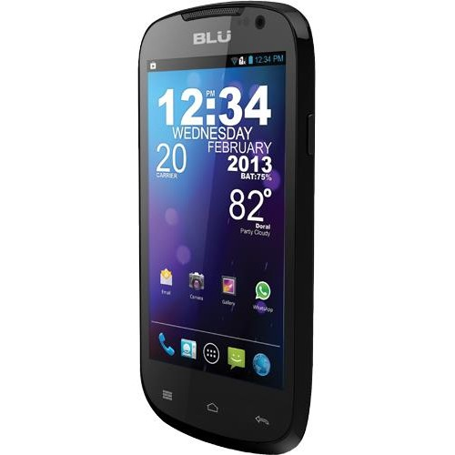 "Blu Dash Jr. D140K 3.5"" / 512MB / Android 4.4 Cell Phone (Unlocked) - Black"