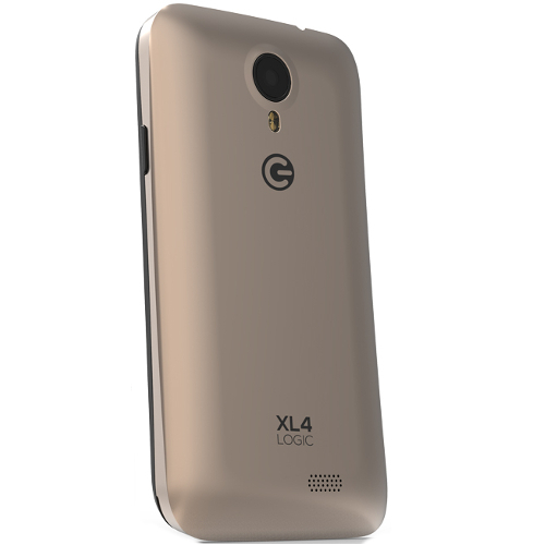 Logic XL4 4GB Cell Phone (Unlocked) - Black / Gold 20T-VG7-XL4