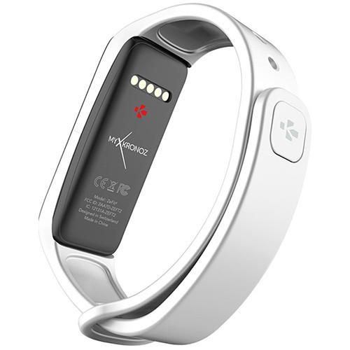 MyKronoz ZeFit2 Activity & Sleep Tracker Bluetooth with Touchscreen Smartwatch - White / Gold