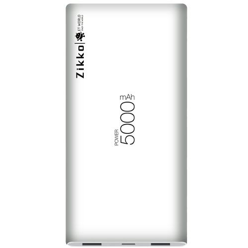 Zikko 5000mAh Powerbank Lightning & Micro USB - White