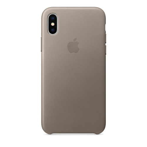 Apple® iPhone X Leather Case - Taupe
