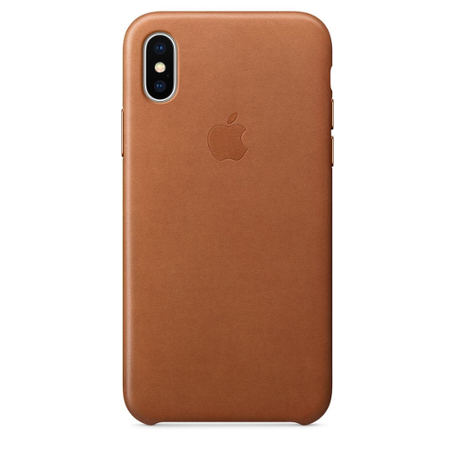 Apple® iPhone X Leather Case - Saddle Brown