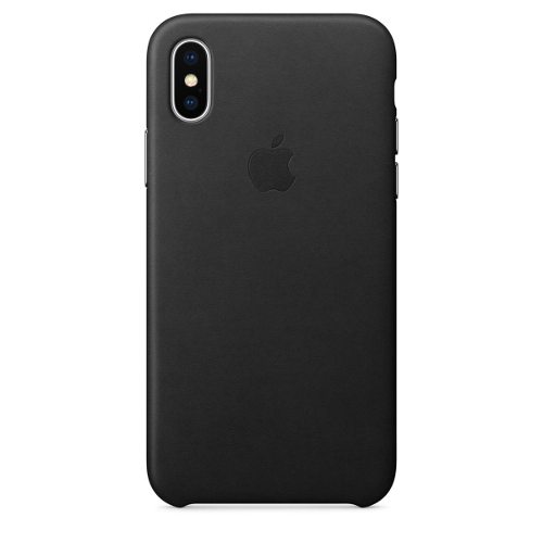 Apple® iPhone X Leather Case - Black