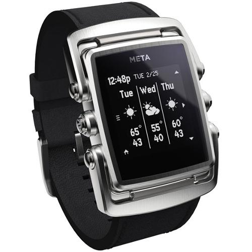 Meta M1 Core Stainless Steel Smart Watch - Black
