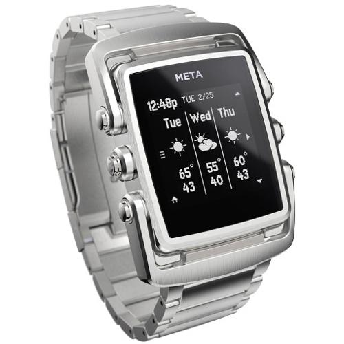 Meta M1 Core Stainless Steel Smart Watch - Silver