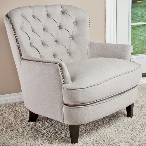 Tafton Fabric Club Chair Natural