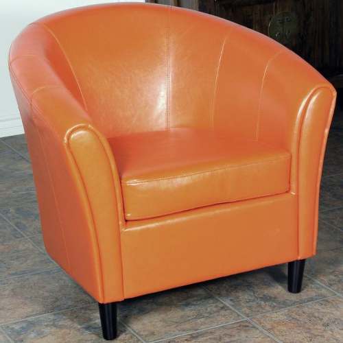 Napoli Bonded Leather Chair Orange