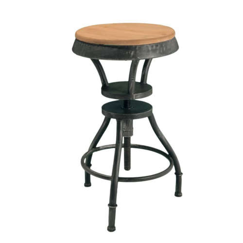 Lucian Fir Top Adjustable Barstool Black
