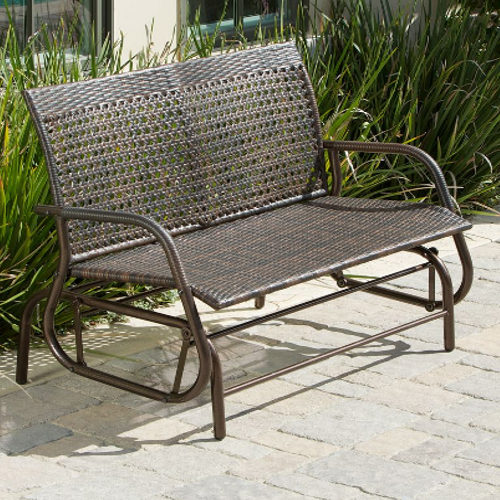 Maui Outdoor Swinging Bench Brown