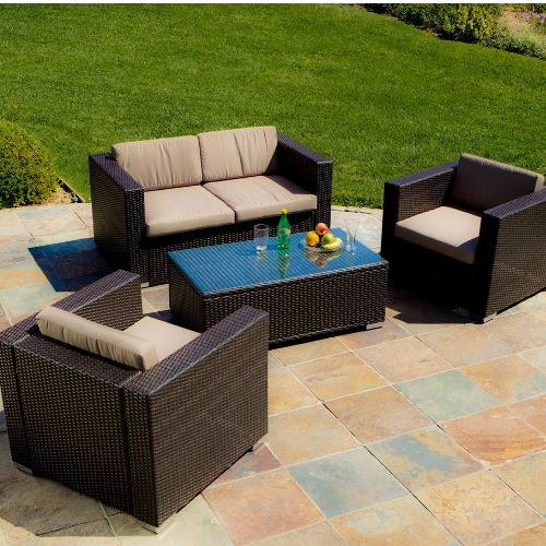 Murano Outdoor Sofa 4 piece Set Brown