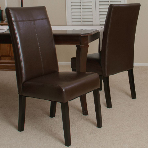 Lissa Dining Chair 2pc Set Chocolate Brown