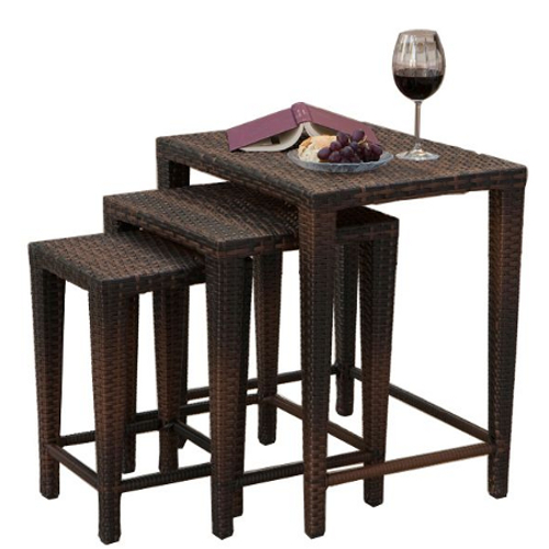 Nesting Tables 3pc Set Multibrown